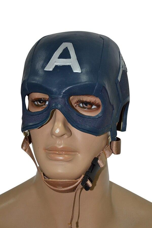 Avengers: âge des ultrons Captain America Steven Rogers masque de Latex EVA supérieur demi-visage Cosplay casque utilisation de fête d'halloween