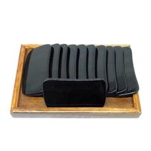 купить Free shipping! 30pieces/lot Wholesale thicken square buffalo horn massage guasha board beauty face Scrapping plate дешево