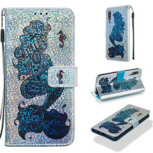 Mobile phone leather case for Samsung Galaxy M10 /A10 shiny