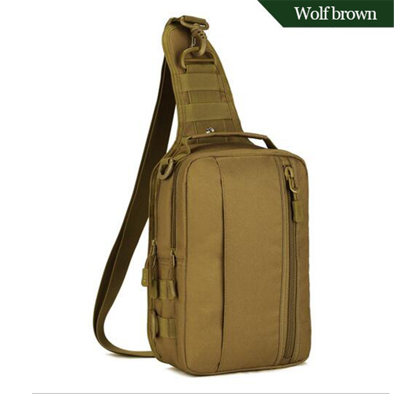 Fashion men's bags tactics waterproof nylon bag multi-function single shoulder chest bag high quality tourism Backpacks