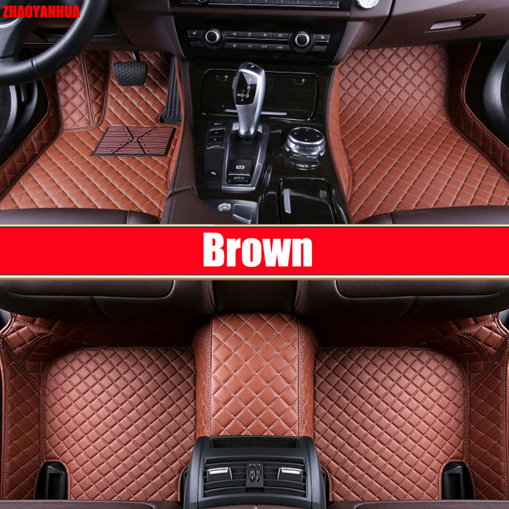 zhaoyanhua car floor mats for bmw 3 series e46 e90 e91 e92 e93 f30 f31 f34 gt 6d car styling carpet floor liners 1999 present