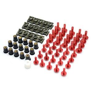 Image 5 - 40 Uds tornillos de carenado para parabrisas de motocicleta tuercas tornillos Kit de arandela Clips de sujeción y tornillos para honda CBR 600 F2,F3,F4,F4i CBR600RR