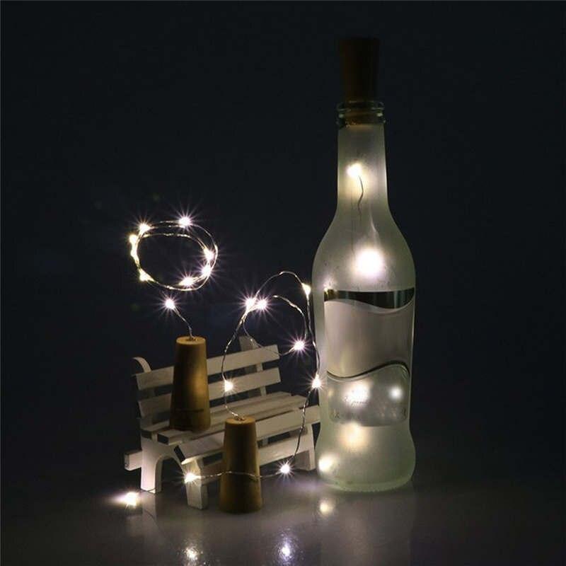 Теплый в форме винной бутылки на солнечной батарее пробковый струнный светильник 8 светодиодный Сказочный струнный светильник лампа Гирлянды Шар белый открытый Свадебный 19feb15 - Испускаемый цвет: B