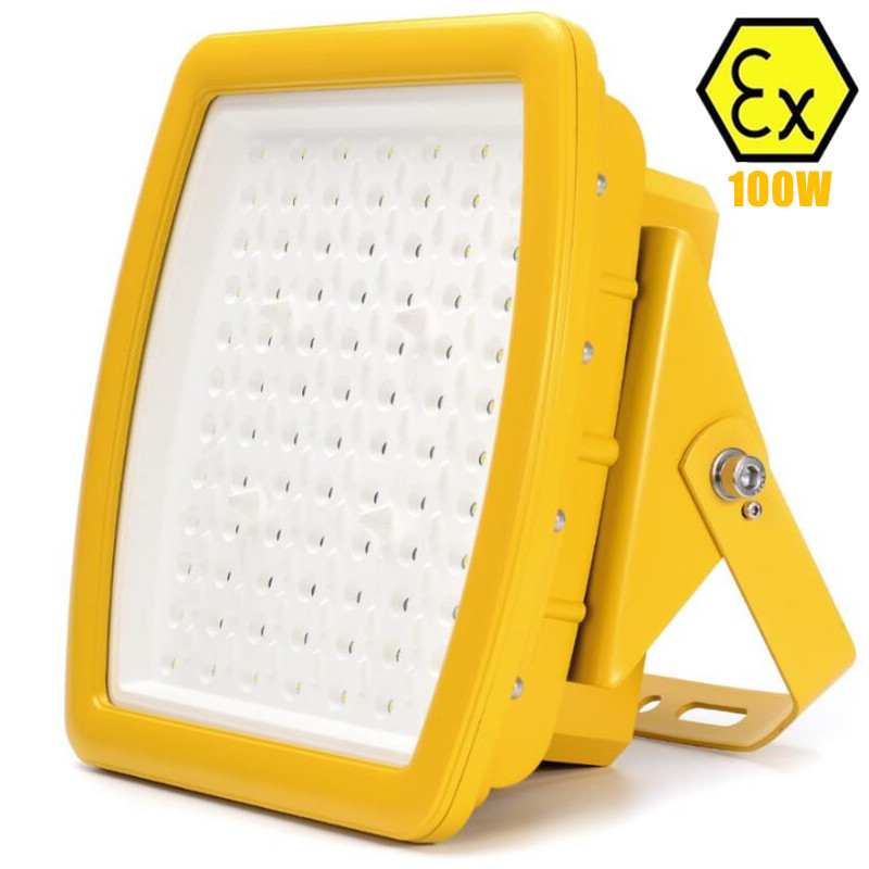UL explosion-proof led flood light 100W AC110v 220v 230v 240v UL844 class I division 2 100W explosion proof LED light fixture