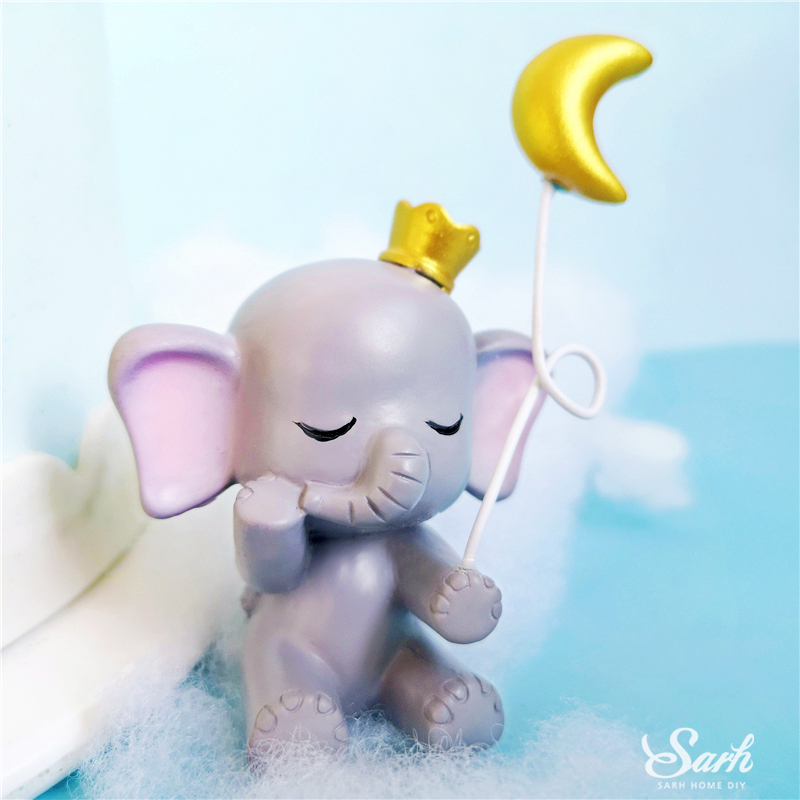 Image 4 - Bling Gold Silver Star Elephant Decorations Hairball Cake Toppers for Children's Day Anniversary Party Supplies Sweet Gifts-in Cake Decorating Supplies from Home & Garden