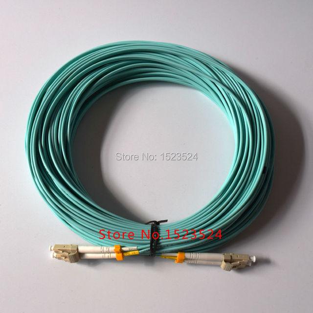 25 m LC-LC LC / UPC-LC / UPC Multi-Mode OM3 fibra multimodo dúplex de Cable de fibra óptica Patch Cord Jumper