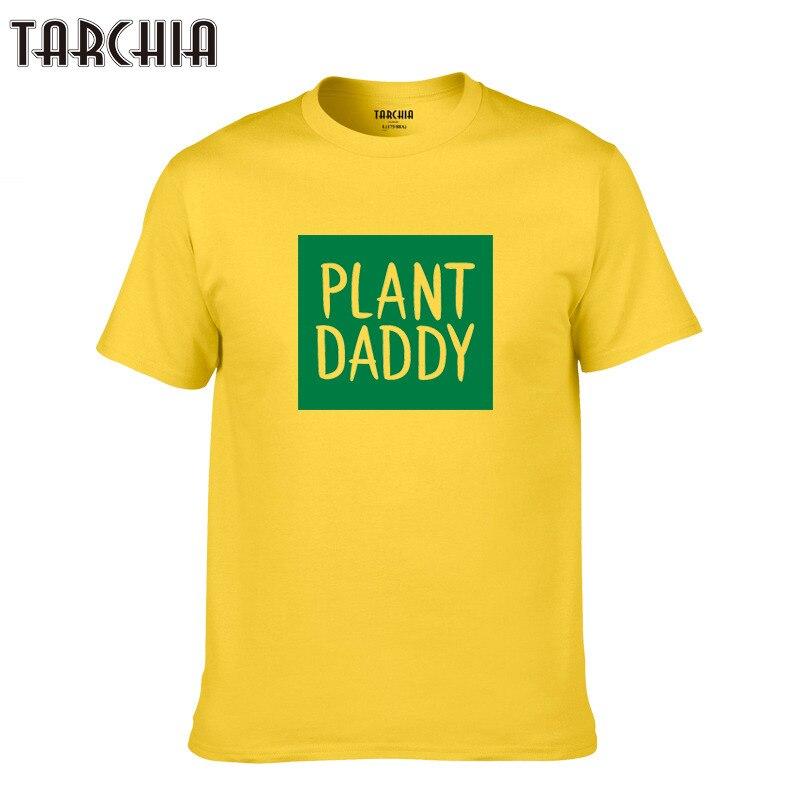 TARCHIA sleeve boy casual homme t-shirt cotton tops palnt daddy tshirt t shirt plus 2018 summer brand new male tees men short