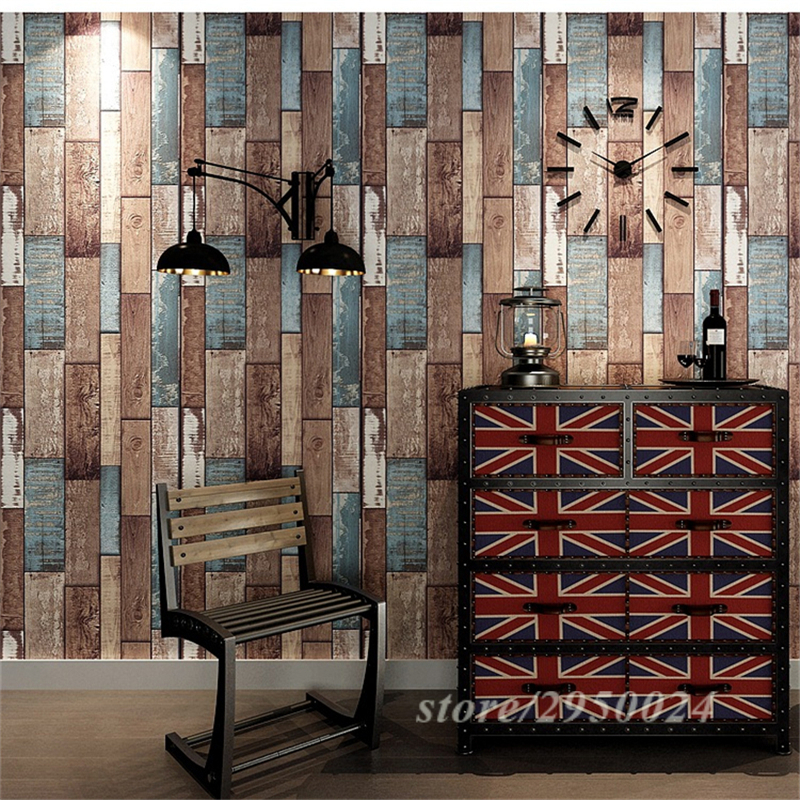 Photo Wallpaper Personality PVC Color Wood Grain Deep Embossed Bar Restaurant Coffee Shop Study Kitchen Wall Chinese Wallpaper beibehang nostalgic cowboy blue pvc wallpaper net coffee personality shop clothing store theme restaurant coffee shop wallpaper