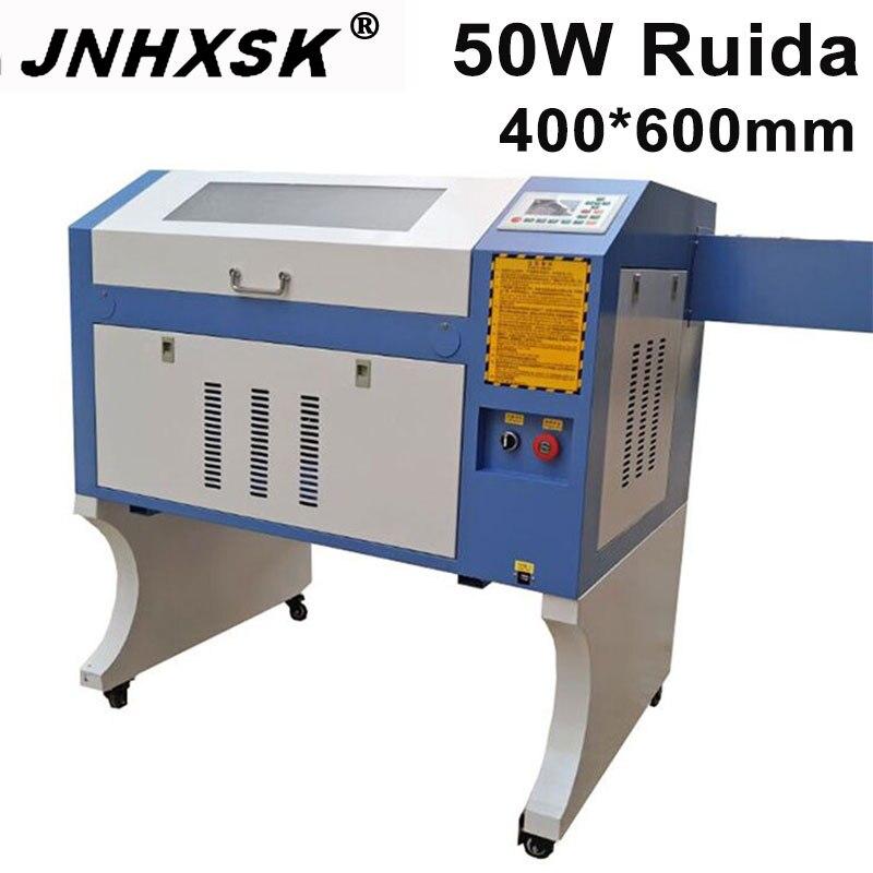 JNHXSK co2 laser CNC 4060 50W laser engraving cutter machine laser marking machine Wood acrylic mini laser engraver cnc