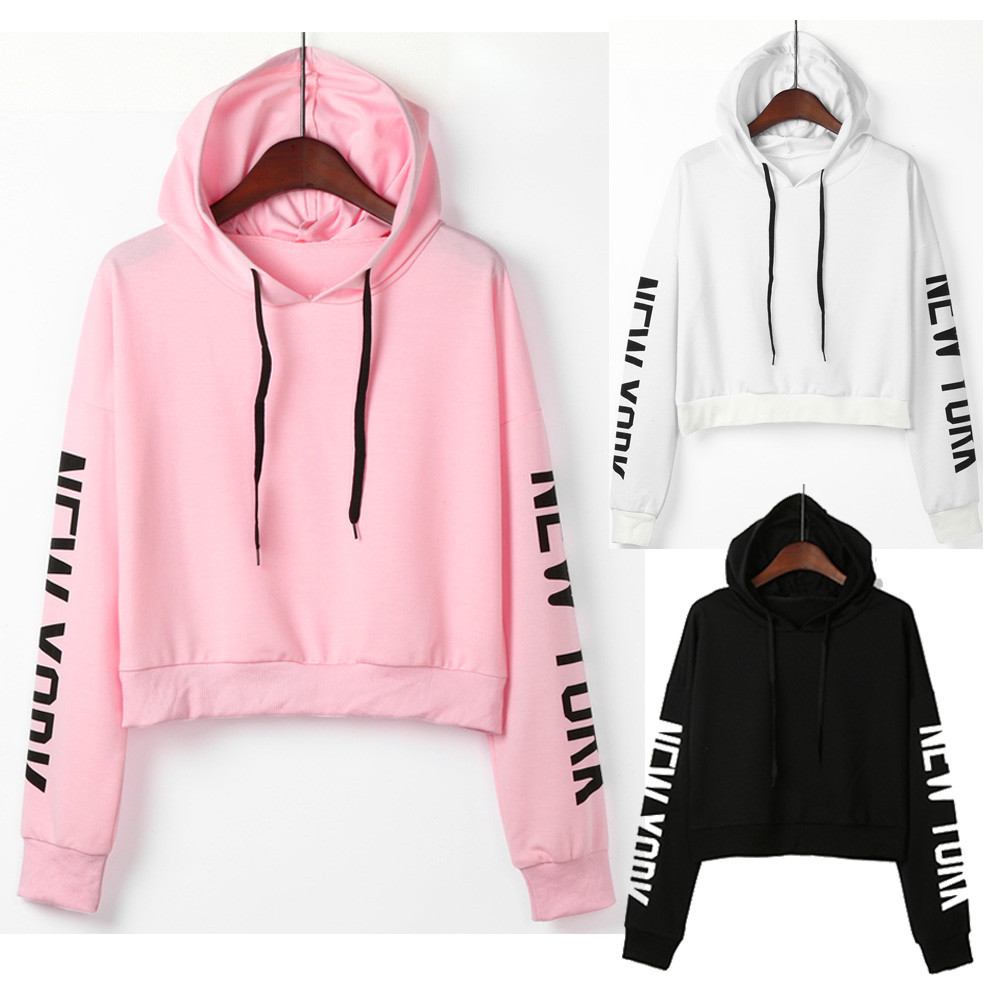 women winter hoodies and sweatshirts unique Letters Long Sleeve Hoodie  Sweatshirt Pullover Tops cool Streetwear Hoodies -in Hoodies   Sweatshirts  from ... 05baf303c