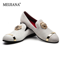 MEIJIANA Luxury Casual Shoes 2019 New Big Size Men's Loafers Slip on Men Leather Shoes Brand Men's Shoes Wedding Shoes
