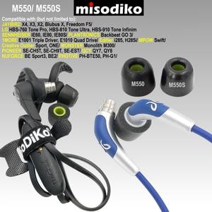 Image 2 - Misodiko M550S Bellek Köpük Kulakiçi Kulak Ipuçları için Başlıkları Jaybird X4 X3 X2, BlueBuds X, özgürlük F5/1 DAHA E1001/Photive PH BTE50
