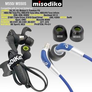 Image 2 - Misodiko m550s memória espuma fones de ouvido orelha dicas para jaybird x4 x3 x2, bluebuds x, liberdade f5/1 mais e1001/fotive PH BTE50