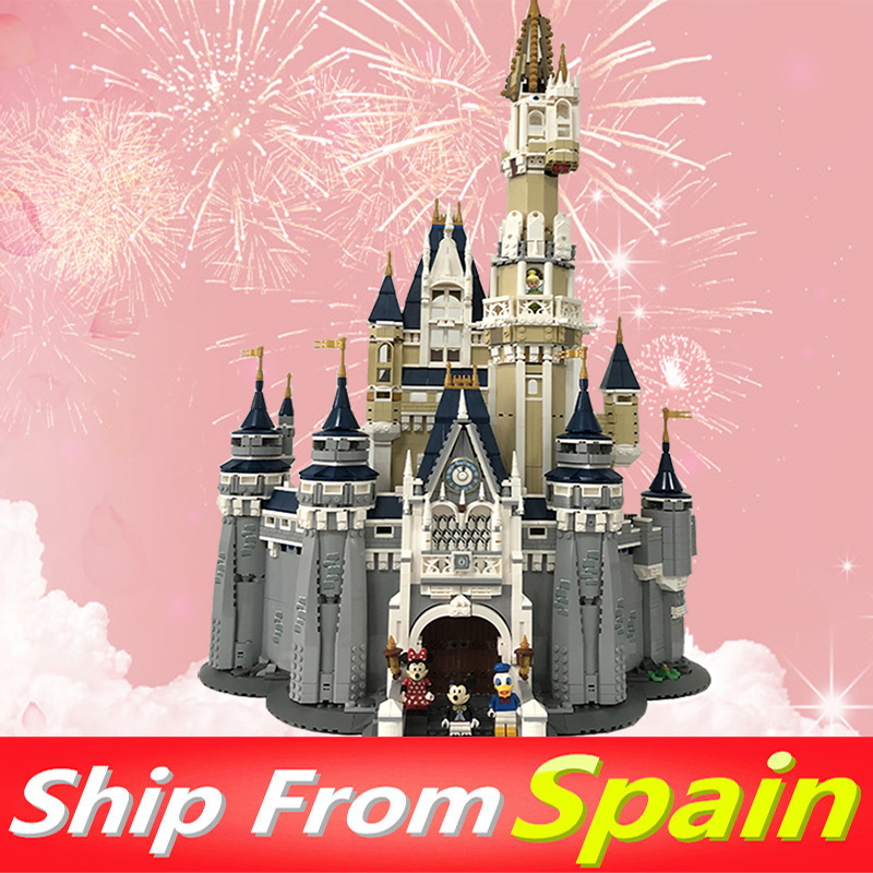 Building-Blocks Castle-City-Model Gift-Bricks Ship 16008 10228 71040 From-Spain Princess