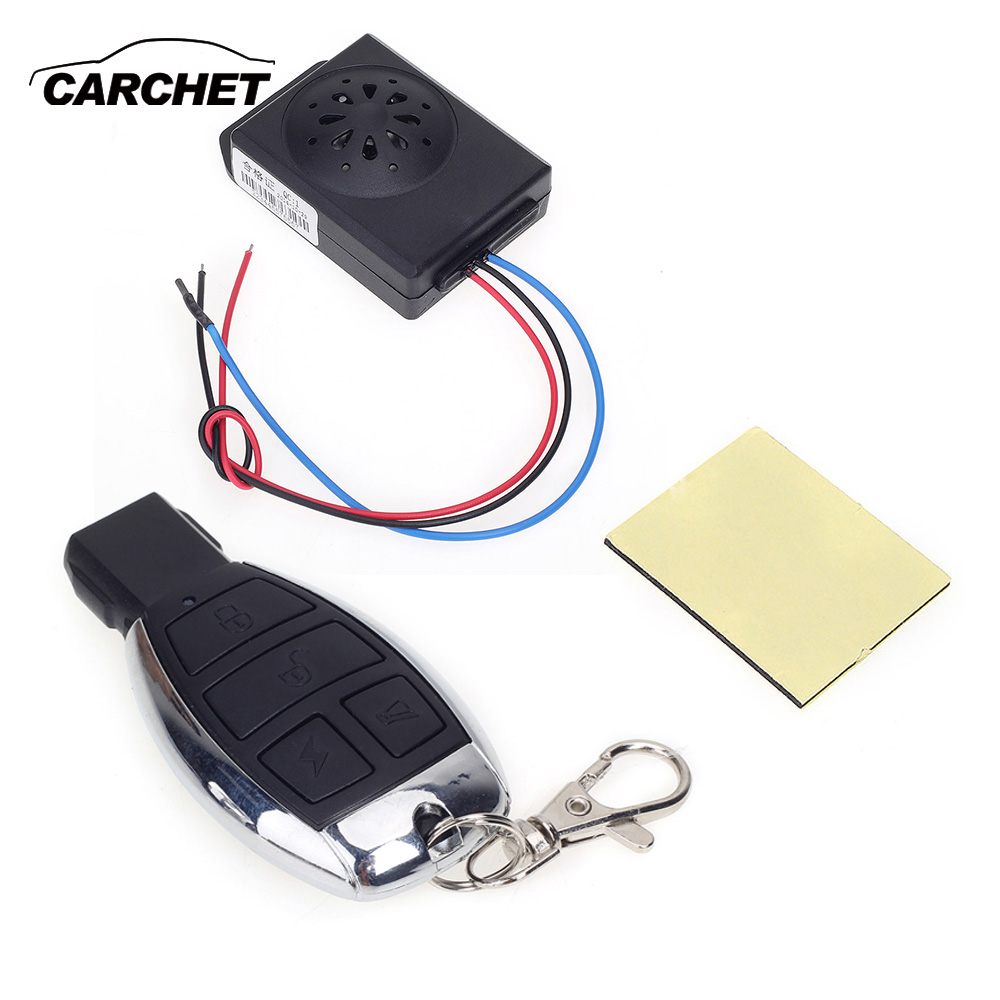 CARCHET Anti-theft Motorcycle Alarm Aluminum Motorcycle Theft Protection Security Alarm Safety Motorbike Scooter Accessories