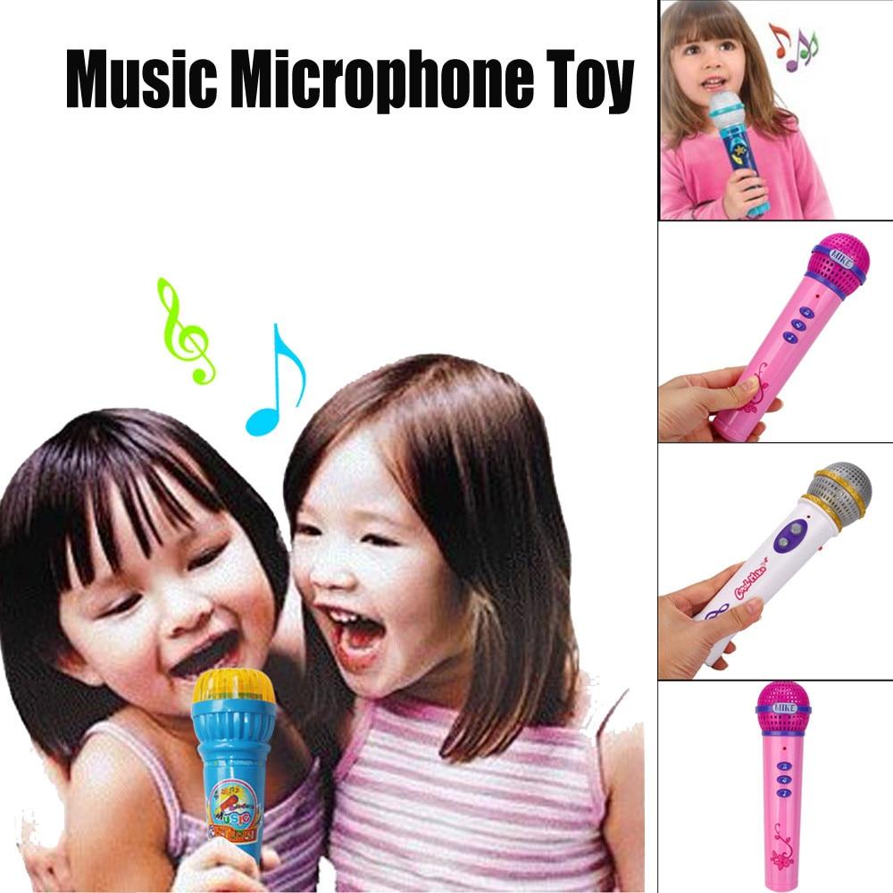 Высокое качество Дети для маленьких девочек мальчиков микрофон караоке Малыш Забавный Подарок Музыка игрушечный розовый белый Малыш развл...