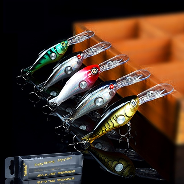 US $14 84 47% OFF|Three dimensionalBait 3D Holographic Eye 5Pcs Hard Minnow  Fishing Lure Crankbait Shallow Running Lip Design Best Hard Bait-in