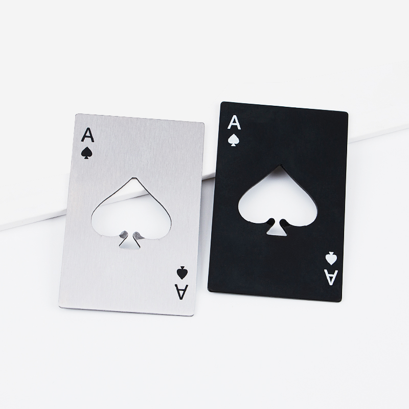 Stainless Steel Poker A Bottle Opener 2018 New Design Originality Corkscrew Bottle Openers  EDC Tool Playing Card A For Camping 5