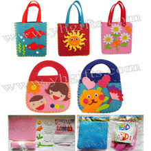 15PCS LOT DIY felt handbag craft kits Fabric crafts Children bag Kids toys Activity items Fantastic