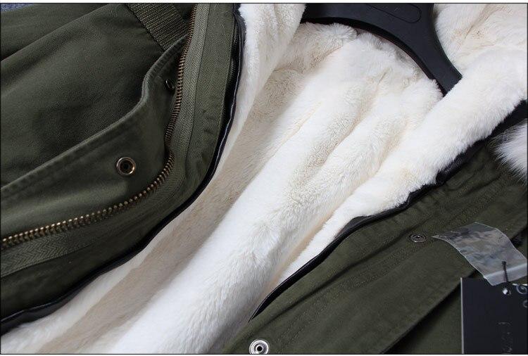 Armée 9 10 Streetwear Col Lâche 6 Long Oftbuy Réel Vert 1 2 2019 Nouvelle Veste Femmes De Raton 4 8 D'hiver 11 5 Doublure Laveur Fourrure Faux Parka 12 13 Manteau 3 7 HTqfC