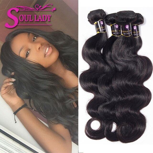 Hot Selling Soul Lady Hair Brazilian Hair Weave Bundles 4 Pcs Lot