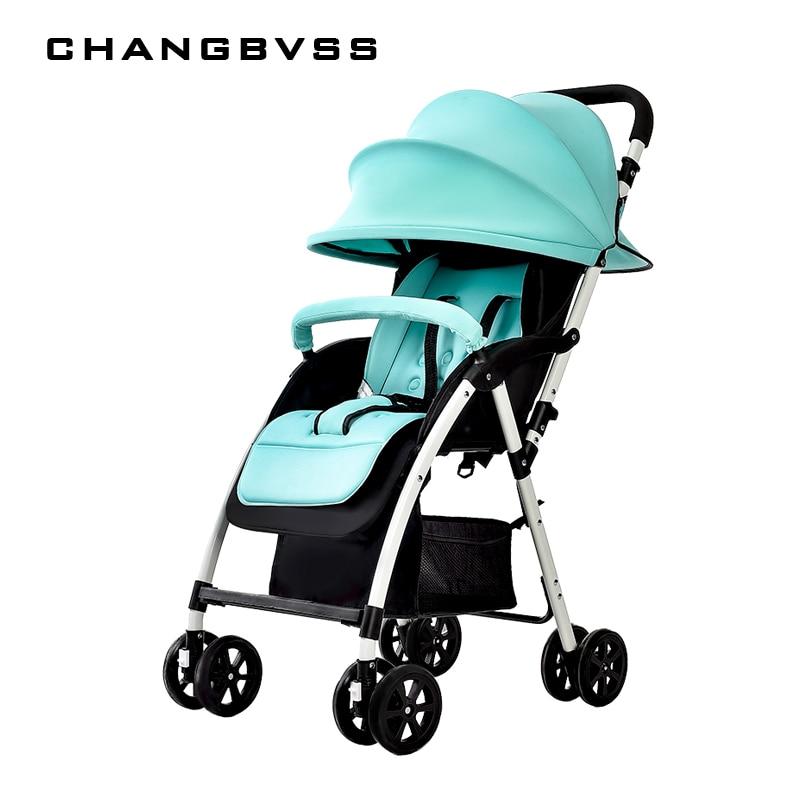 New Summer Super Breathable Baby Stroller Urltra-Light Portable Folding Baby Prams Pushchair Can Sit & Lie Infant Umbrella Cart