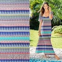 The geometric style silk crepe fabric cloth anti wrinkle summer dress shirt silky light fabric 14 momme