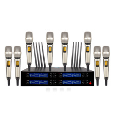 Professional wireless microphone UHF eight-channel outdoor performance / family KTV karaoke OK