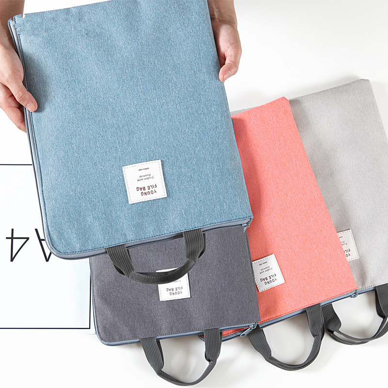 Simple file store bags , A4 office data bag holder, canvas briefcase,bookbag for business,laptop managing the store