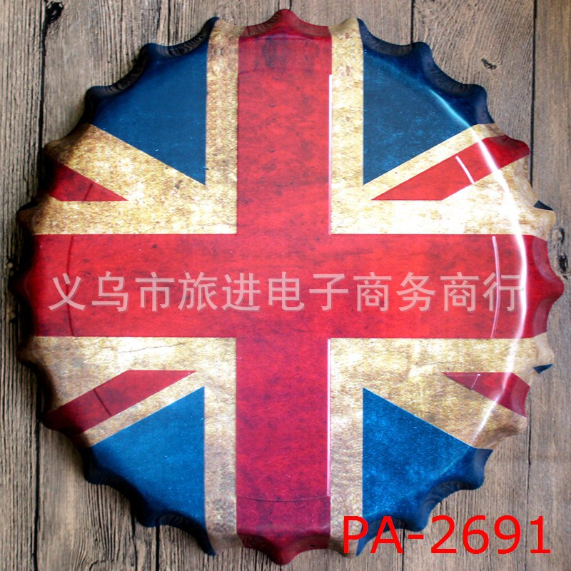 bottle cap furniture. 35cm england flag bottle cap vintage home decor tin sign bar pub wall metal furniture
