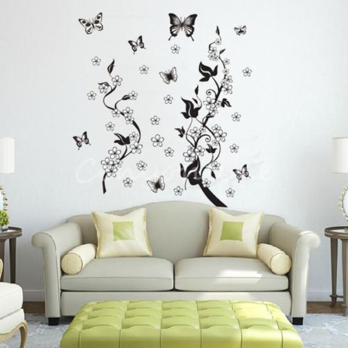 90 X 22 Large Vine Butterfly Wall Decals Removable: New1pc Wall Stickers Butterfly Flowers Tree Removable