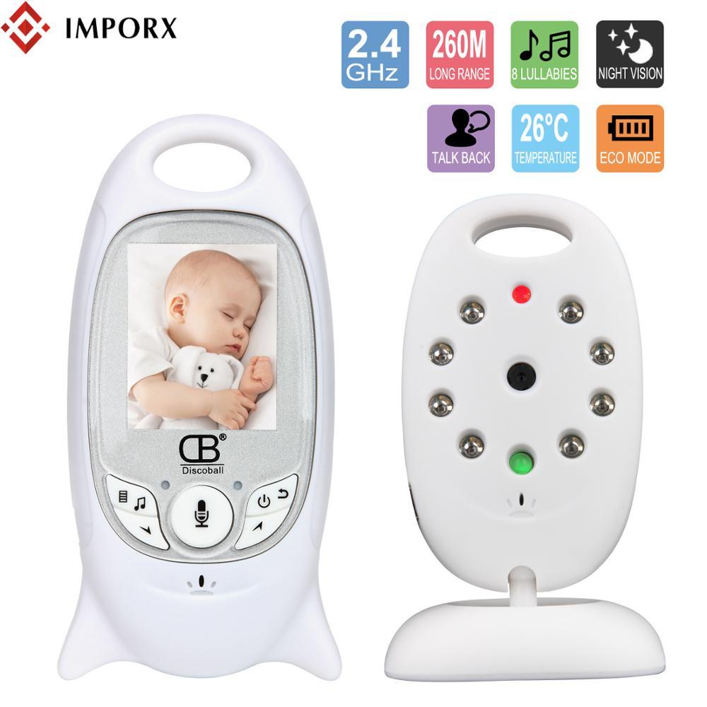 IMPORX Sono Do Bebê Monitor de Vídeo Câmera de Segurança do Monitor Sem Fio Do Bebê Baba 2 Way Discussão Nigh Visão LED de Monitoramento de Temperatura