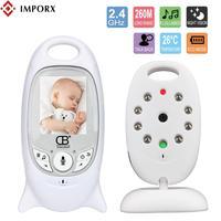 IMPORX Baby Sleeping Monitor Video Wireless Baby Monitor Baba Security Camera 2 Way Talk Nigh Vision LED Temperature Monitoring