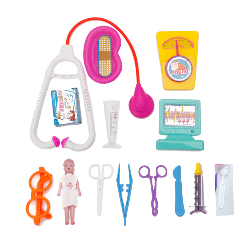 15Pcs Kids Doctor Tools Toys Set Carry Case Kit Educational Role Play Toy