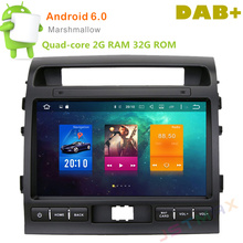 10″ Android 6.0 Octa Core 2G RAM Car Raido GPS Player For Toyota Land Cruiser LC200 2008-2013  NO DVD Head unit FM BT Player