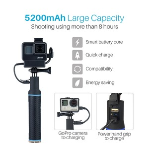 Image 5 - For Gopro Cage with Power Bank Hand Grip Sports Camera Case for Gopro Hero 7 6 5, gopro7 Camera Accessories Tripod Mount Support