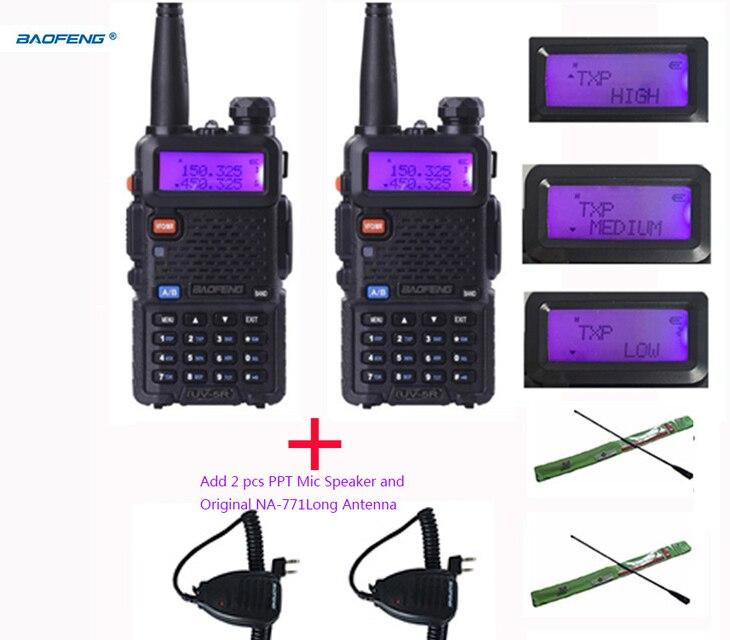 2PCS Two Way Radio Long Range Baofeng Uv 5r 8W Radio Walkie Talkie 10km With High