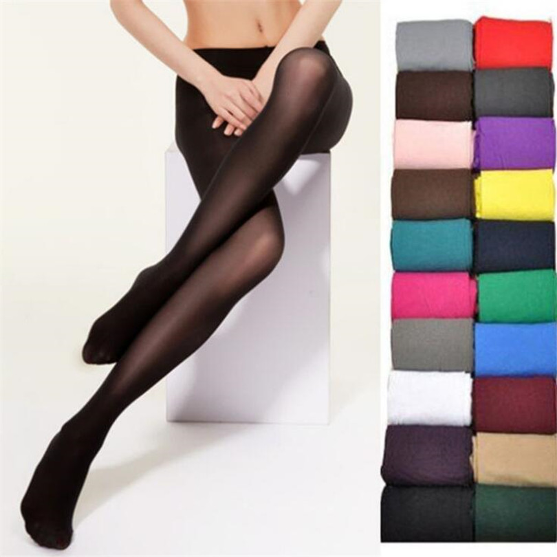 VIIANLES 20D Seamless Women <font><b>Sexy</b></font> Tights Candy Color Tight Opaque Collant Women Pantyhose Black Tight Elastic Pantyhose <font><b>16</b></font> Colors image