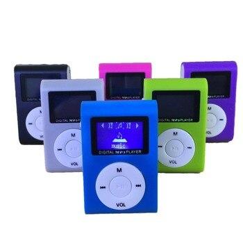 גודל קטן נייד MP3 נגן מיני LCD מסך MP3 נגן מוסיקה נגן תמיכת 32GB TF כרטיס