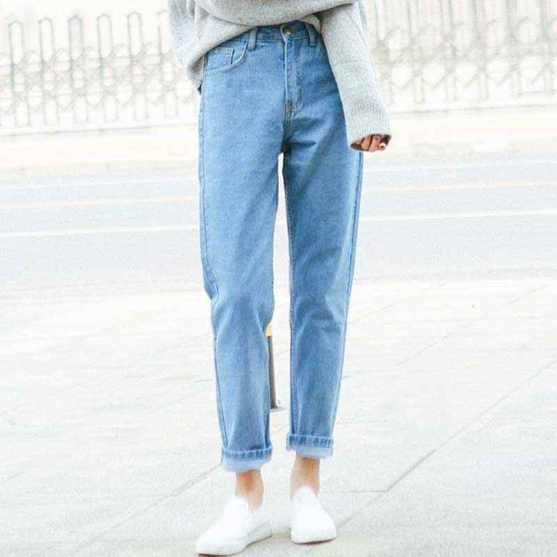 1122bcb9e1f ... HEE GRAND 2018 High Waist Ankle-Length Mom Jeans Women Spring Washed  Denim Straight Women ...