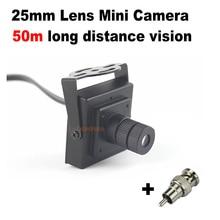 900TVL Мини CCTV камера мм 25 мм объектив монитор на большие расстояния угол обзора 10 градусов безопасности мини видео камеры скрытого видеонаблюдения
