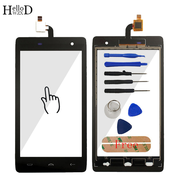 HelloWZXD For HOMTOM HT20 HT 20 Touch Screen Glass 100% Tested Front Glass Digitizer Panel Lens Sensor Tools Free Adhesive Gift