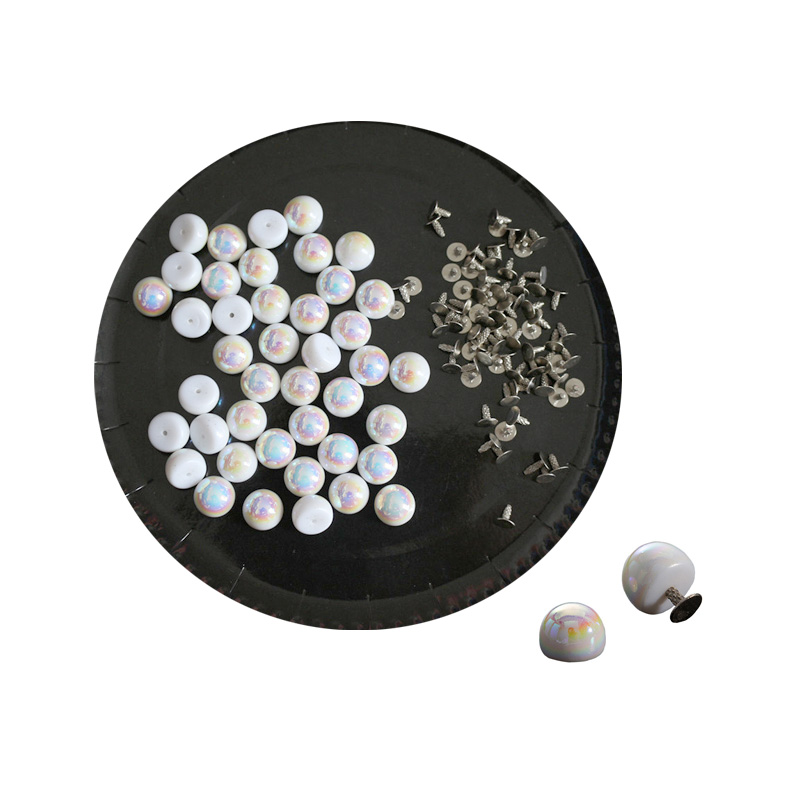 Buttons Apparel Sewing & Fabric 30pcs 8mm 10mm Rhinestone Rivets Jeans Bags Shoes Craft Decorative Spikes And Studs Nails Accessories For Diy Leather Decor Perfect In Workmanship