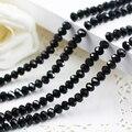 5040 AAA Топ черный Цвет Свободные Кристалл Стекло Rondelle beads.2mm 3 мм 4 мм, 6 мм, 8 мм 10 мм, 12 мм Бесплатная доставка! - фото