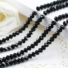 5040 AAA Top Black Color Loose Crystal Glass Rondelle beads.2mm 3mm 4mm,6mm,8mm 10mm,12mm Free Shipping!