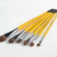 1pack Wolf Hair Paint Brush Gouache Watercolor Oil Painting Brush 2014156