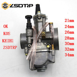 ZSDTRP 2 4 Acidente Vascular Cerebral Avc Motocicleta Koso OKO Carburador Da Motocicleta Do Carburador Keihin 21 24 26 28 30 32 34mm com Jato De Energia