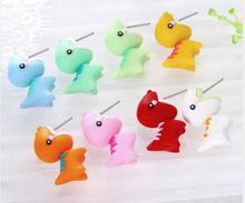 Design Handmade Polymer 8 Colors Clay Soft Dinosaur Earrings Animal Piercing Bite Ear Stud Earring Jewelry