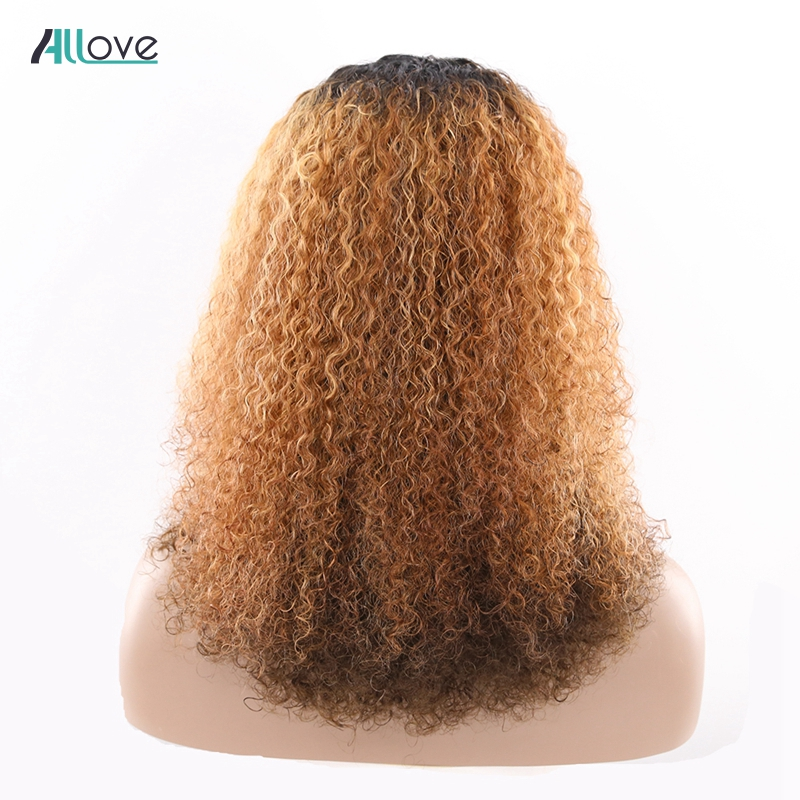 Afro Kinky Kinky Curly Human Hair Wigs For Black Women Allove Brazilian Remy U Part Lace Wigs Long Human Hair Wigs 150% Density-in Human Hair Lace Wigs from Hair Extensions & Wigs    2