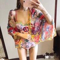 Svoryxiu 2018 Designer Brands Bodysuits Women S Charming Floral Print Summer Beach Holiday Sexy Bodysuit Femme